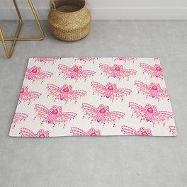 Death's Head Hawkmoth – Pink Ombré Palette Rug