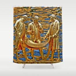 The Golden Boys Shower Curtain
