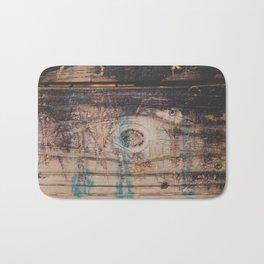 Weathered Wood Texture Photograph Bath Mat