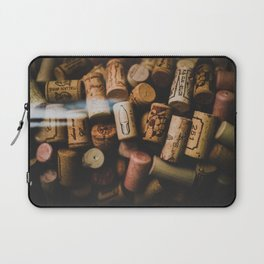 A collection of Wine Corks Photo Laptop Sleeve