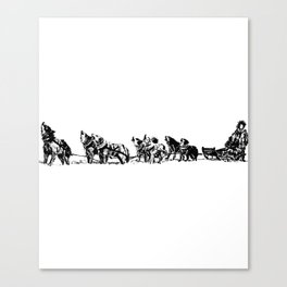 Dog Sled Team Canvas Print