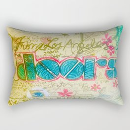 The Doors Graffiti Room 32  Rectangular Pillow