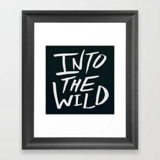 Into the Wild x BW Framed Art Print