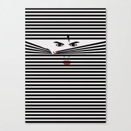 Peeking Man (White) Canvas Print