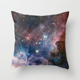 Carina Nebula Star Photography Throw Pillow