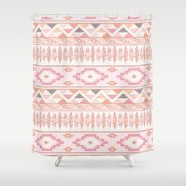 Pink Boho Tribal Aztec Shower Curtain