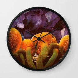 Amethyst Skies Wall Clock