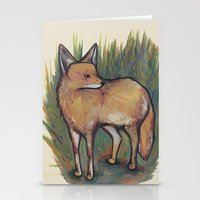 coyote Stationery Cards featuring Coyote by Kelsey Oseid