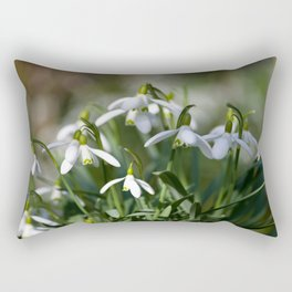 Floral Snowdrops! Rectangular Pillow