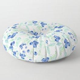 Midsummer - Watercolor Blueberries  Floor Pillow
