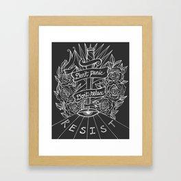 Don't Panic Don't Relax, Resist. - Gray and white Framed Art Print