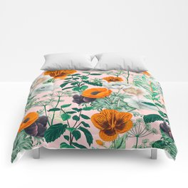 Wildflowers #pattern #illustration Comforters