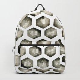 Watercolor Hexagons Backpack