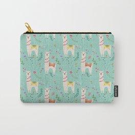 Festive Llama Carry-All Pouch