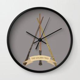 The Golden Trio Wall Clock