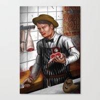 hannibal Canvas Prints featuring HANNIBAL by Gart Graphisme