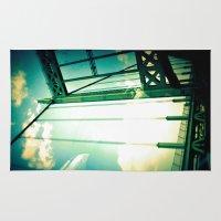 bridge Area & Throw Rugs featuring Bridge by Abby Strobel
