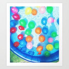 Celebratory Balloons Art Print