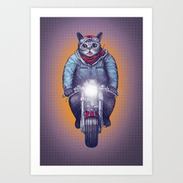 Caferacer Lil Bub Art Print