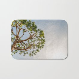 Maritime pine in French Riviera in a sunny winter day Bath Mat
