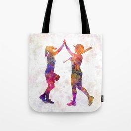 women playing softball 01 Tote Bag