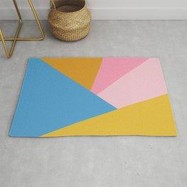 Cute Colorful Diagonal Color Blocking Rug