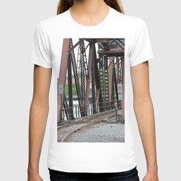 Old Railroad Bridge Beams T-shirt