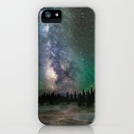 Electric skies and Technicolor Stars  iPhone Case
