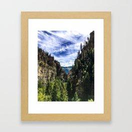 Hanging Lake Trail Framed Art Print