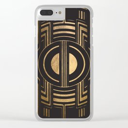 Art Deco Unfinished Love Clear iPhone Case