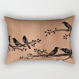 Wood Raven 4 Rectangular Pillow