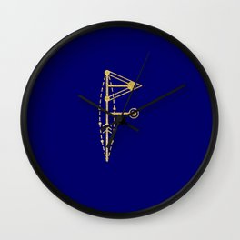 Sacred Geometry Letter F Wall Clock