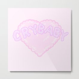Crybaby's cotton candy heart Metal Print