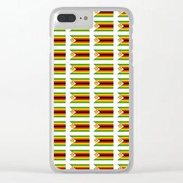 Flag of zimbabwe -Zimbabwe,Zimbabwean,Zimbo,harare,Bulawayo Clear iPhone Case
