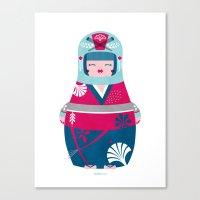 geisha Canvas Prints featuring Geisha by Piktorama