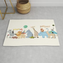 little safari parade Rug