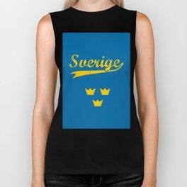 Sweden, Sverige, vintage poster Biker Tank
