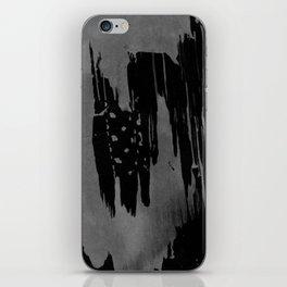 Modern black gray hand painted watercolor pattern iPhone Skin