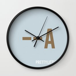 Pretty Little Liars - Minimalist Wall Clock
