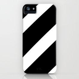 Black'n'White Stripes iPhone Case