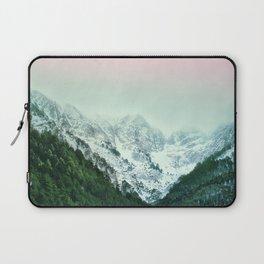 Snowy Winter Mountain Landscape with Alpenglow Laptop Sleeve