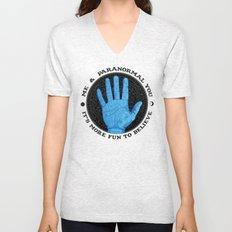 Me & Paranormal You - James Roper Design - Palmistry (black lettering) Unisex V-Neck
