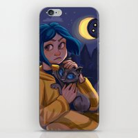 coraline iPhone & iPod Skins featuring Coraline by Corelle_Vairel