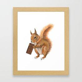 Super squirrel. Framed Art Print