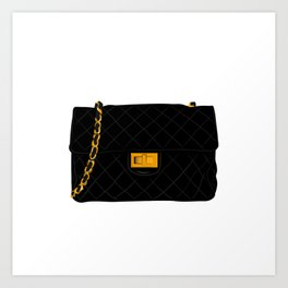The quilted bag Art Print