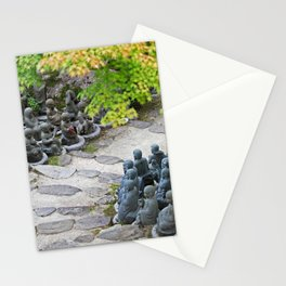 Buddhist Statues Garden Stationery Cards