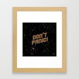 Don't Panic! Pixel Art Framed Art Print