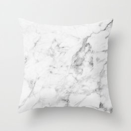 White Marble Throw Pillow