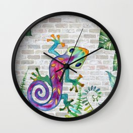 Tropical Gecko Wall Clock
