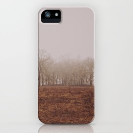 Foggy Trail to the Trees iPhone Case